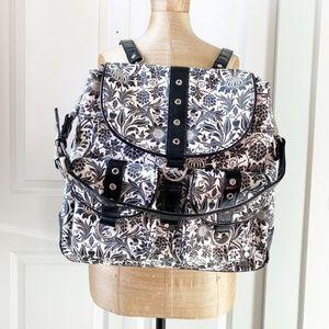 Gigi Hill Coated Canvas Shoulder Diaper Backpack